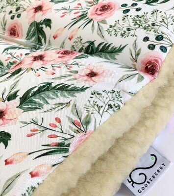 Wool Pram Liner Flowers - NEW