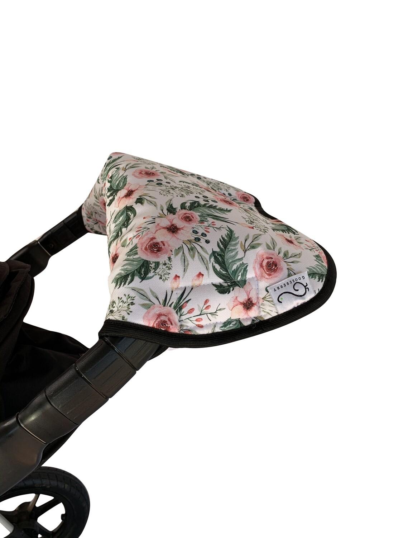 Wool Handmuff Pram Gloves - Flowers