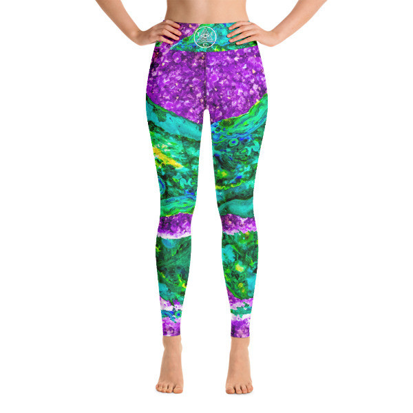 Third Eye Collective Malachite + Amethyst Mashup 🧘 Yoga Leggings