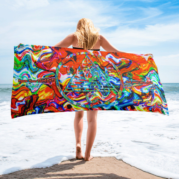 Third Eye Collective 👁️ Psychedelic Enlightenment Beach Towel 👁️