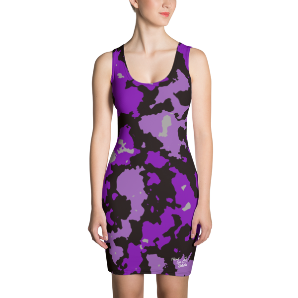 Purple Camo Third Eye Collective Cut & Sew Dress