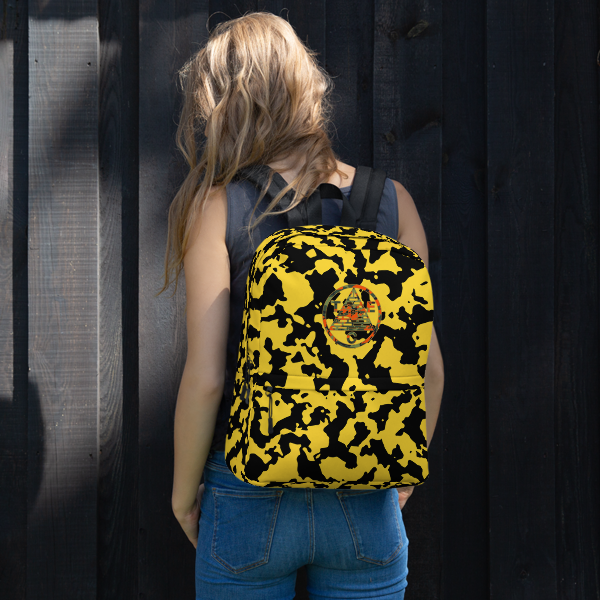 Yellow Third Eye Collective Camo Backpack