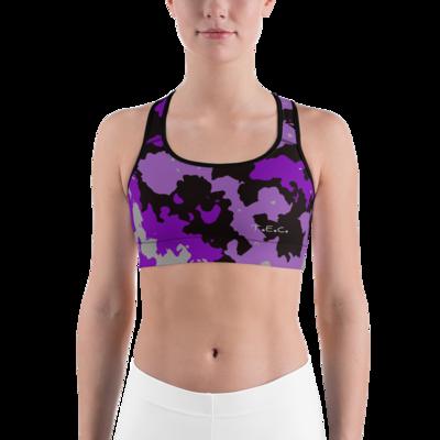 Purple Camo Custom Third Eye Collective Sports bra