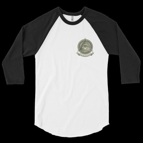 Third Eye Collective Money Symbol T3/4 sleeve raglan shirt