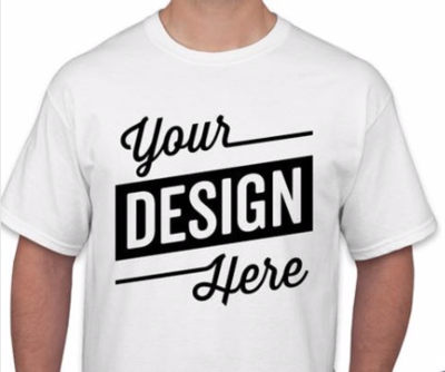 Design Your OWN Customized T-Shirt - Add Your Text Print (front only)READ DESCRIPTION