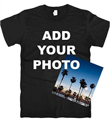 Custom T Shirts Ultra Soft Add Your Photo, Logo for Men & Women Unisex Cotton T Shirt (Vnecks Size S-2XL)