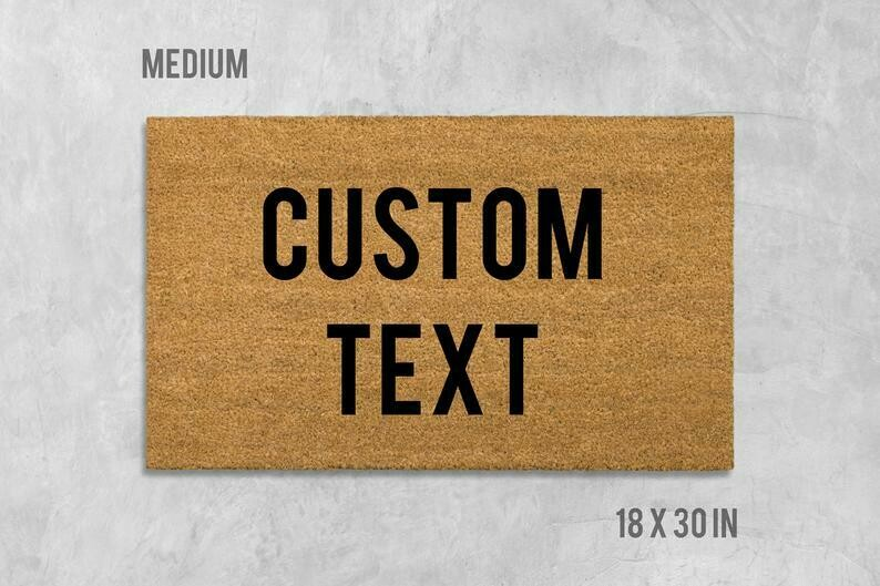 Custom Doormat, Custom Door Mat, Housewarming Gift, Birthday Gift, Funny Doormat, Funny Door Mat, Gift, Custom Words, Custom Text, Custom