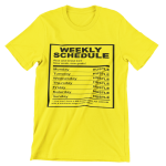 Weekly Hustle T-Shirt (White Lettering)