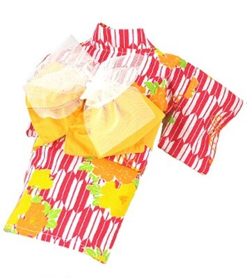 Pet Kimono for Small Dogs and Cats Genuine Japanese Peony Pattern
