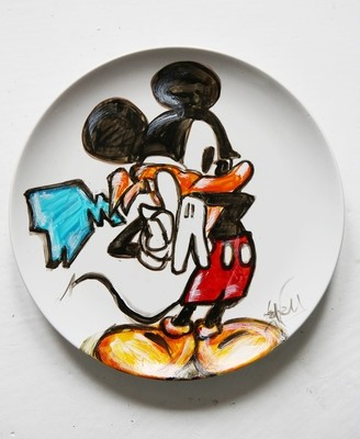 Assiette/Mickey thug Life