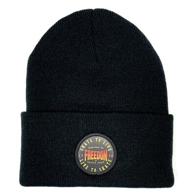 Freedom Live To Skate Beanie Black