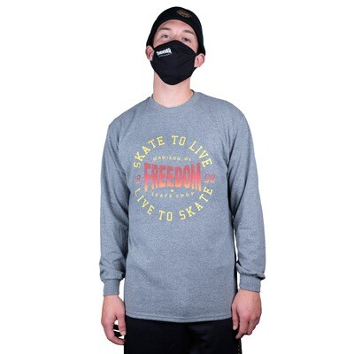 Freedom Live To Skate Longsleeve Shirt Graphite