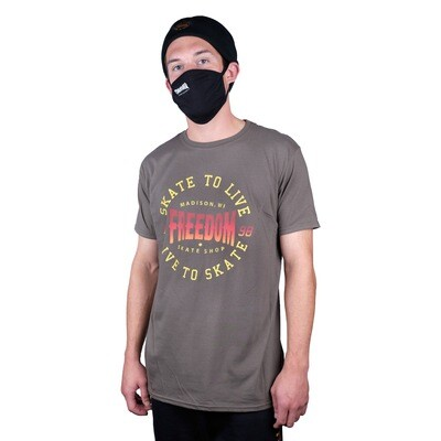 Freedom Live To Skate Tee Olive