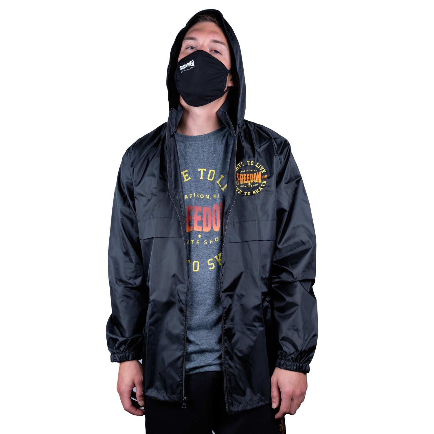 Freedom Live To Skate Jacket Black