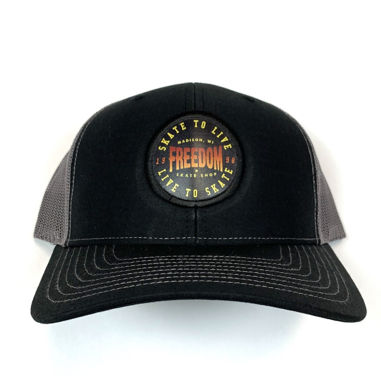 Freedom Live To Skate Mesh Trucker Black/charcoal