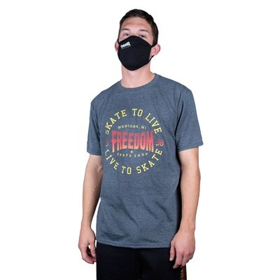 Freedom Live To Skate Tee Dark Heather