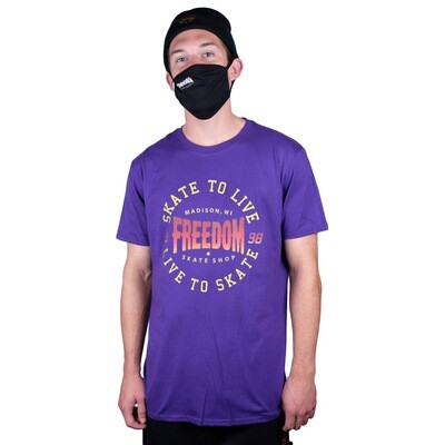 Freedom Live To Skate Tee Purple