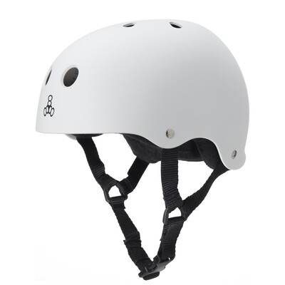 Triple Eight Helmet X-Large White/Black