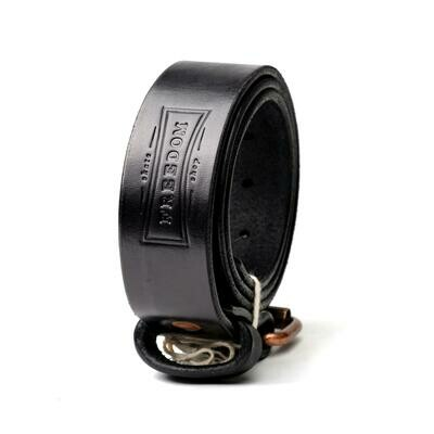 Freedom Leather Belt Black/Antique Brass