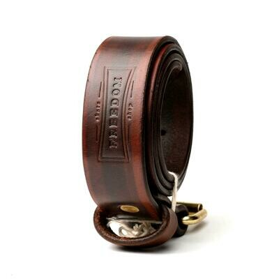 Freedom Leather Belt Brown/Gold