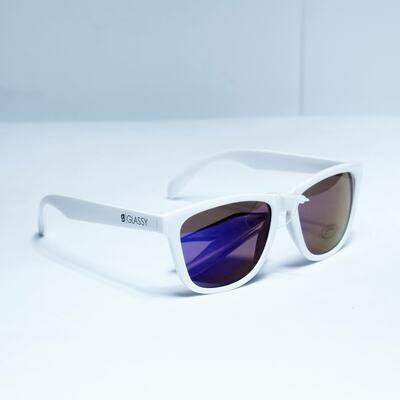 Glassy Deric White/blue Mirror