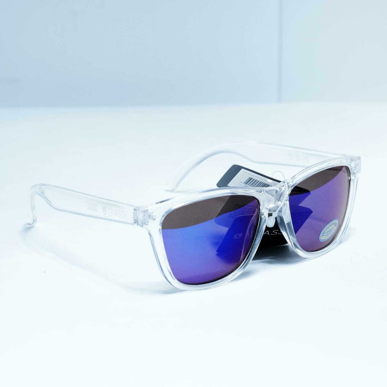 Glassy Deric Clear/ Blue Mirror