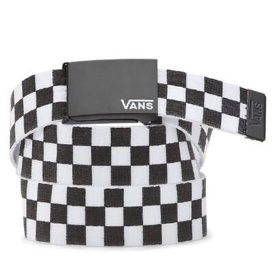 Vans Long Deppster Web Belt Black/white Charcoal