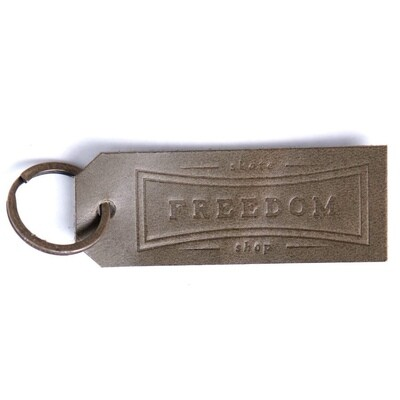 Freedom Leather Keychain Forest Green