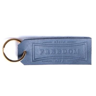 Freedom Leather Keychain Navy
