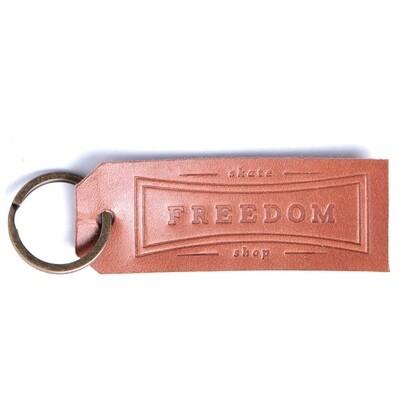 Freedom Leather Keychain Brown