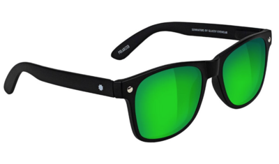 Glassy Leonard Polarized Matte Black/Green