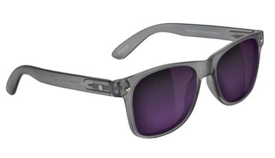 Glassy Leonard Polarized Matte Dark Grey/Purple