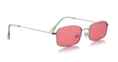 Glassy Rae Polarized Silver/Pink