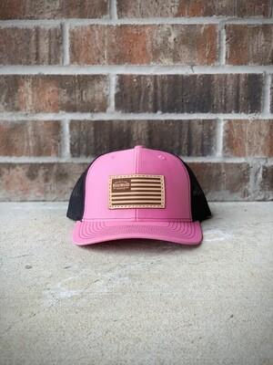 Hat - Pink/ Flag