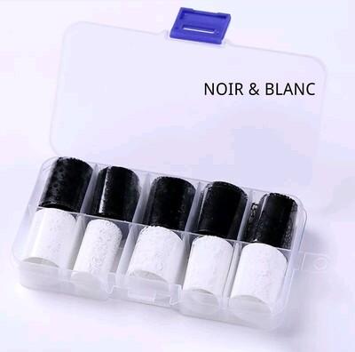 Kit papier foil noir & blanc