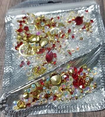 Bijoux mix rouge