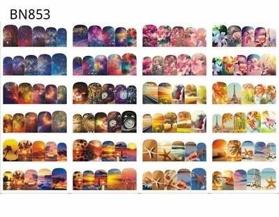 Feuille 12 motifs BN-853