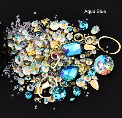 Boîtier bijoux aqua bleu
