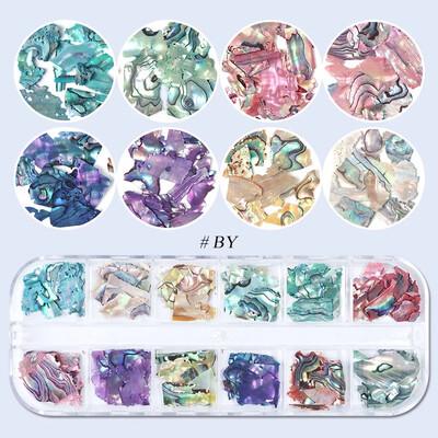 Coquillages forme irrégulière 12 couleurs
