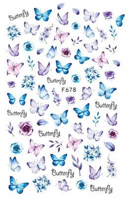 Collant papillons et fleurs