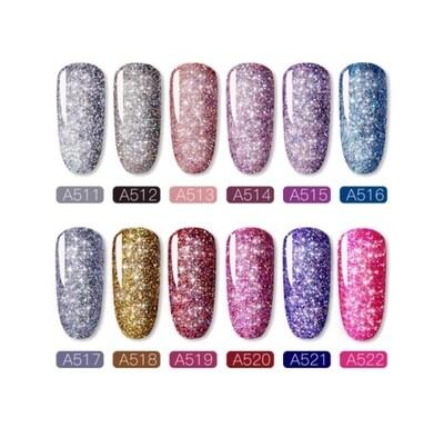 Gel Glitter Rosalind 12 couleurs Shiny Rainbow