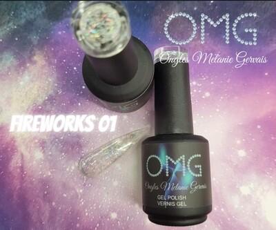 Vernis gel fireworks OMG à l'unité