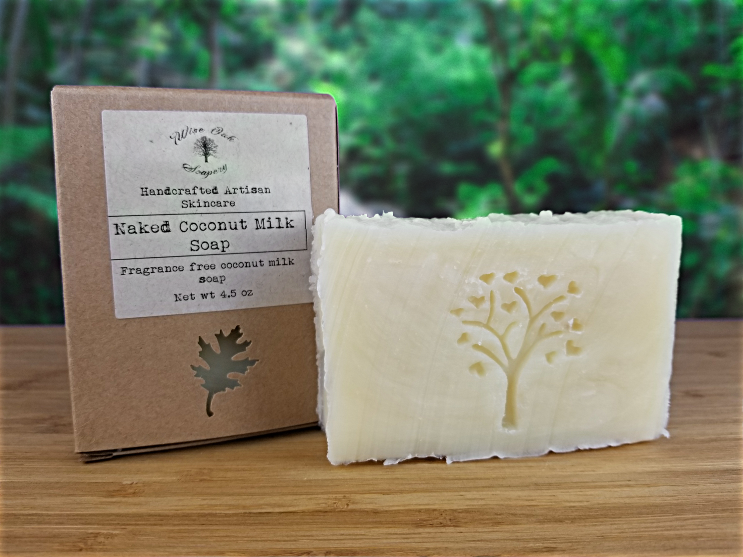 Naked Unscented Paleo Coconut Milk Natural Bath and Body Soap