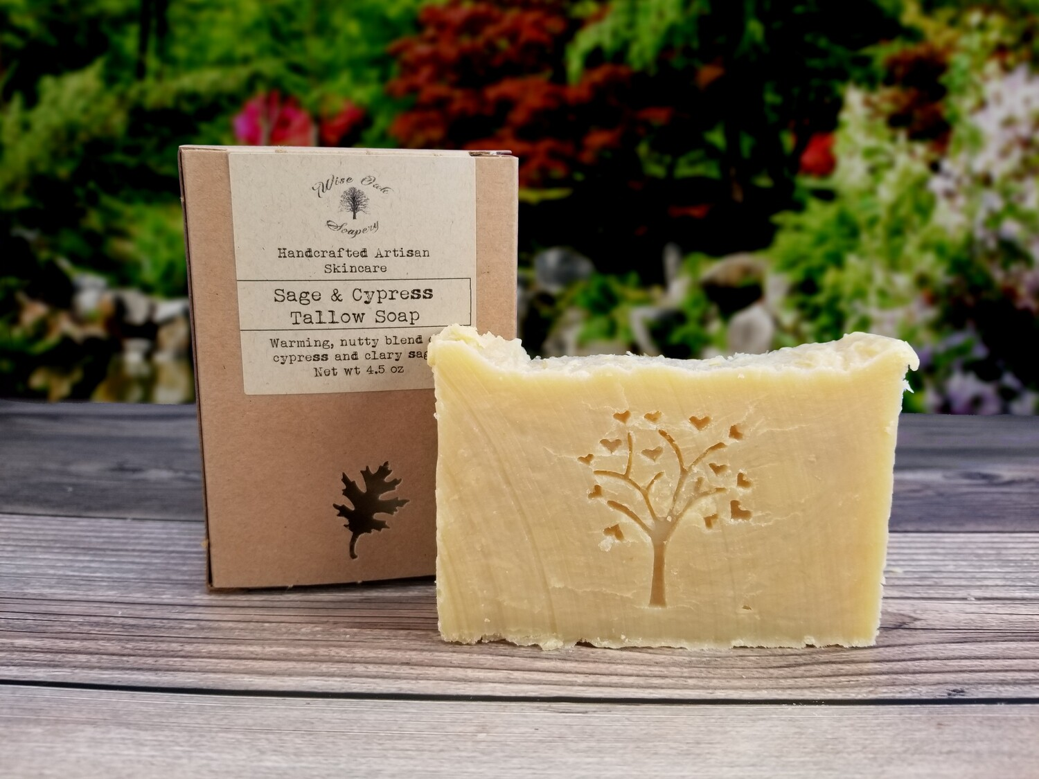 Sage & Cypress Paleo Natural Bath and Body Grass Fed Tallow Soap