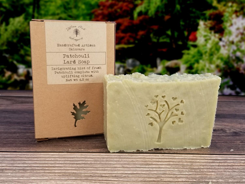 Patchouli Paleo Natural Bath and Body Lard Soap