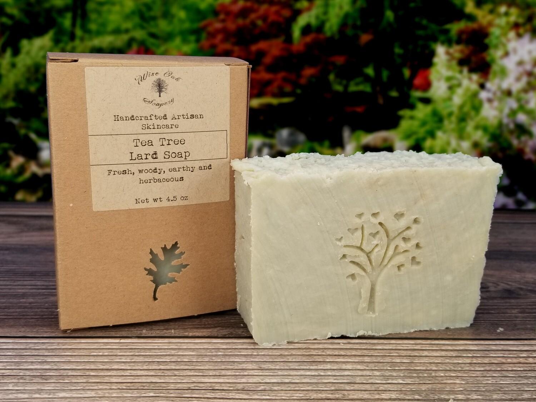 Tea Tree Paleo Natural Bath and Body Lard Soap