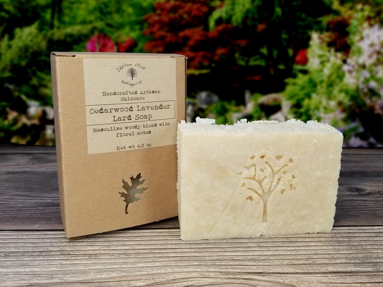 Cedarwood Lavender Paleo Natural Bath and Body Lard Soap