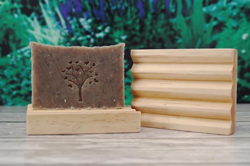 Handmade Natural Pine Soap Dish