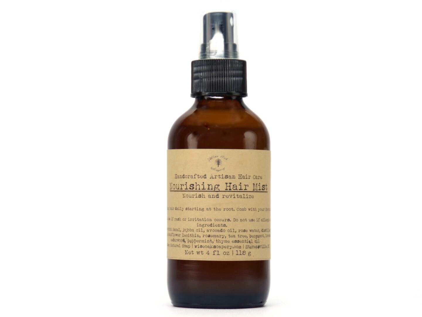 Nourishing Hair Mist for Dry, Over processed or Curly Hair