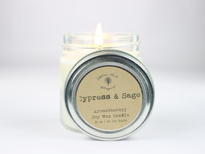 8 oz Aromatherapy Soy Wax Glass Jar Candle with Essential Oils